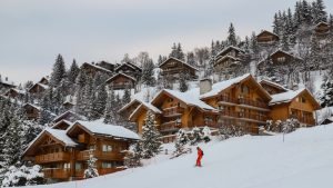 upscale French ski resort